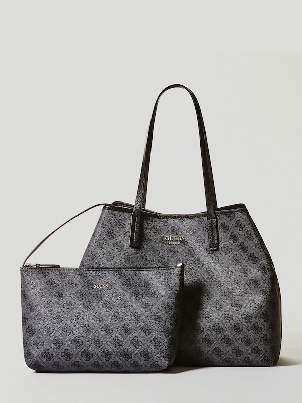 GUESS Handtasche 'VIKKY' in dunkelgrau | ABOUT YOU