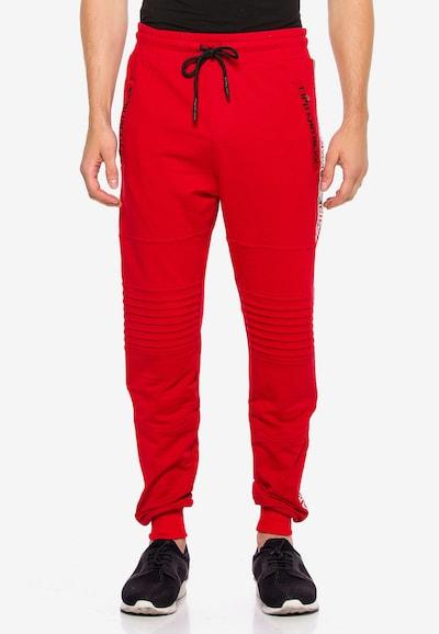 CIPO & BAXX Hose 'Ninja' in mischfarben / rot, Modelansicht