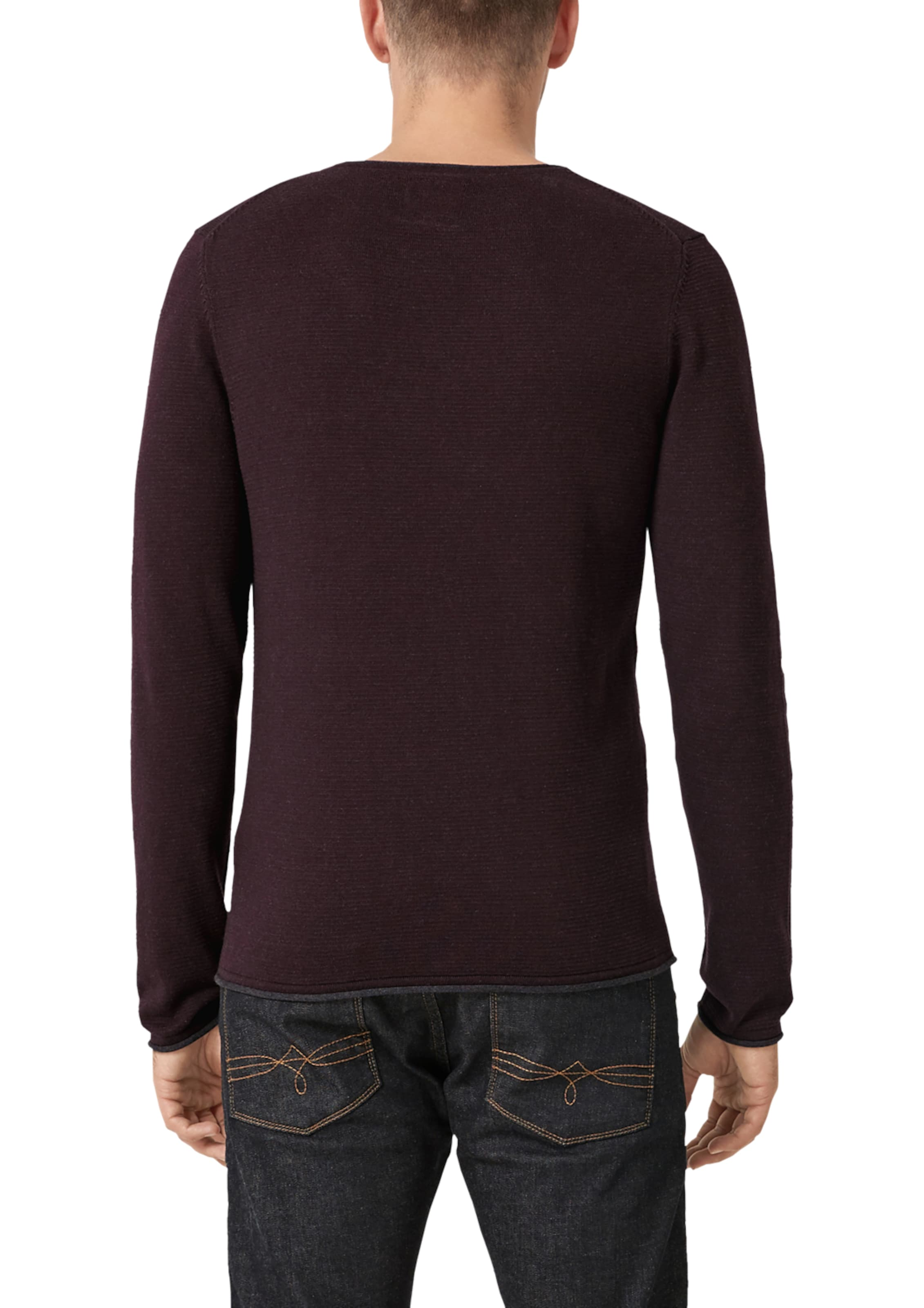 oliver In Label S Pullover GraphitWeinrot Red tQhrxBsdC