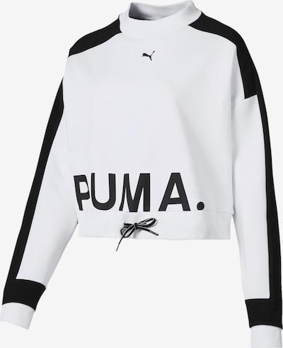 PUMA Sportief sweatshirt 'Chase Crew' in de kleur Zwart / Wit, Productweergave