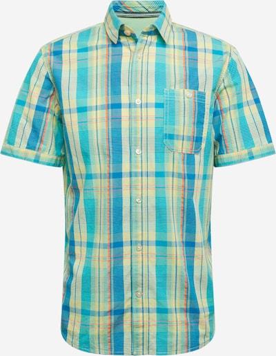 TOM TAILOR Hemd in himmelblau / hellgelb / rot, Produktansicht