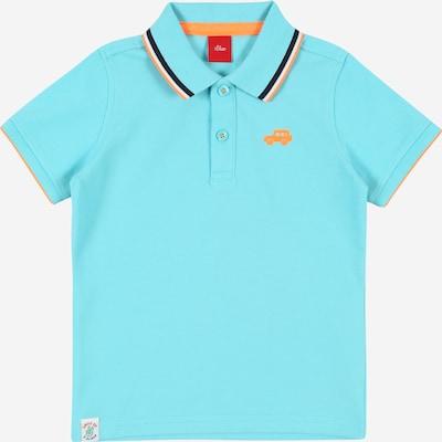 s.Oliver Shirt in türkis / dunkelblau / hellorange / weiß, Produktansicht