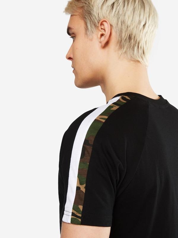 Urban Classics T-Shirt 'Stripe Shoulder Raglan Tee'