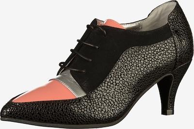 Lola Ramona Pumps met hoge voorkant in de kleur Koraal / Zwart / Zilver, Productweergave