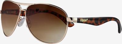 ZIPPO Sonnenbrille 'mixed Brown Flash Leopard Pilot' in braun / gold, Produktansicht