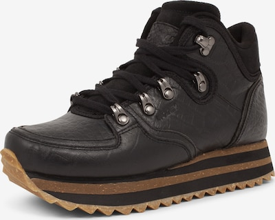WODEN Sneaker ' Mille Croco Shiny Plateau ' in schwarz, Produktansicht