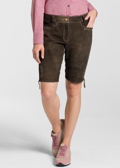 SPIETH & WENSKY Lederhose 'Oxana' in braun, Modelansicht