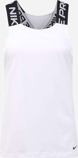 NIKE Sporta tērpa augšdaļa 'Nike Pro' melns / balts, Preces skats