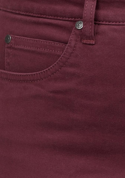 ARIZONA Bootcut-Jeans 'Comfort-Fit' in bordeaux, Produktansicht