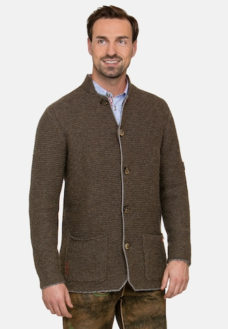 STOCKERPOINT Knitted Janker 'Manson' in Brown