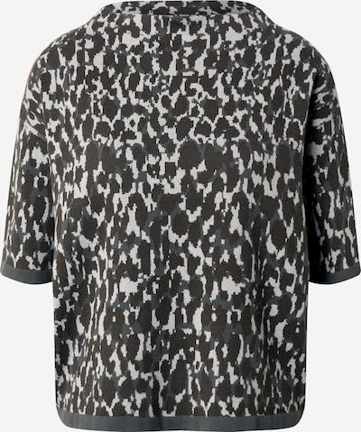 OPUS Pullover 'Panny' in hellgrau / dunkelgrün, Produktansicht