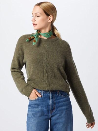 Cream Pullover 'Mynthe' in dunkelgrün, Modelansicht