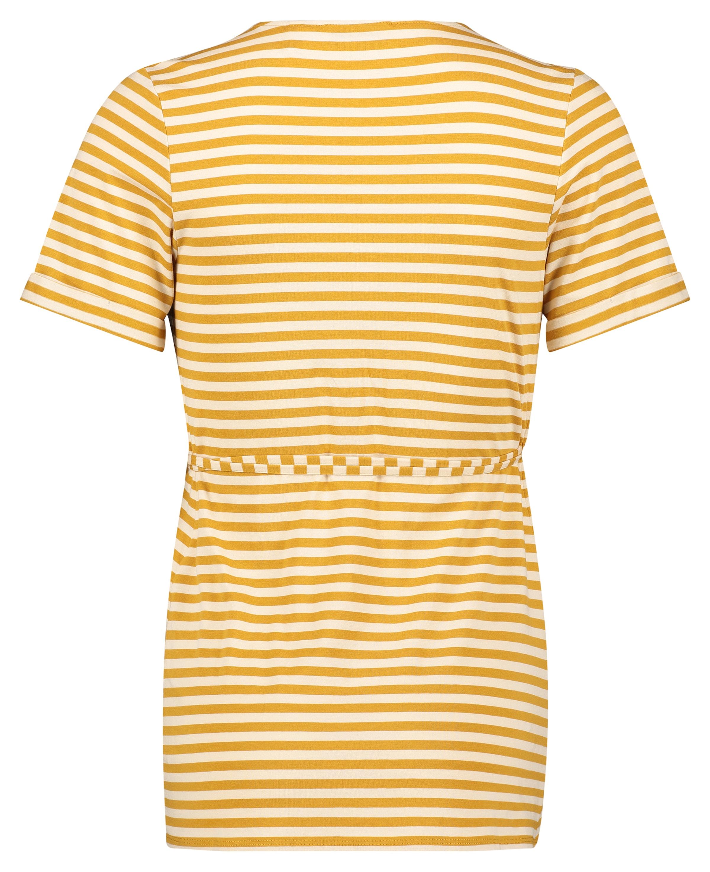 QUEEN MUM Shirt 'Miami' in honig / weiß