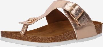 ONLY T-Bar Sandals 'Mathilda' in Bronze