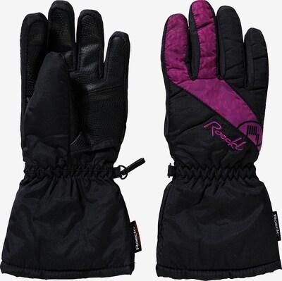 Roeckl SPORTS Fingerhandschuhe 'Auron' in pink / schwarz, Produktansicht