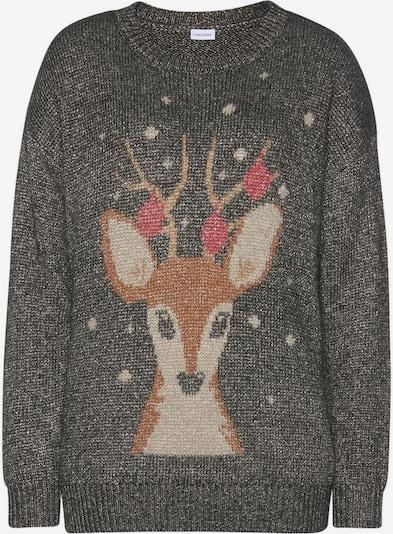 LASCANA LASCANA Sweater in dunkelgrau, Produktansicht