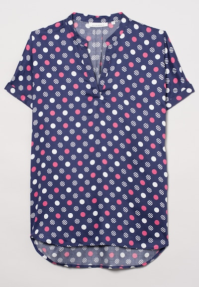 ETERNA Kurzarm Bluse MODERN CLASSIC in lila, Produktansicht