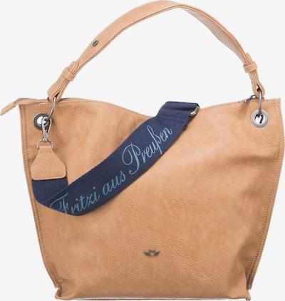 Fritzi aus Preußen Biana Saddle Handtasche in hellbeige / braun / hellorange, Produktansicht