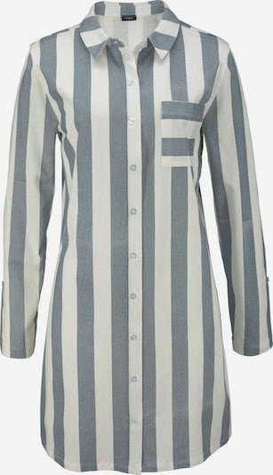 VIVANCE Spavaćica košulja 'Dreams' u sivkasto plava / bijela, Pregled proizvoda