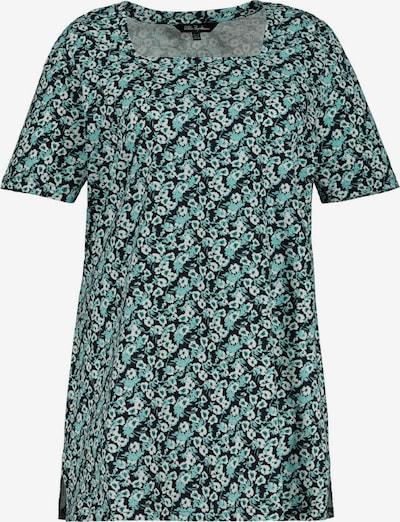 Tricou Ulla Popken pe marine / turcoaz / alb, Vizualizare produs