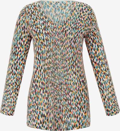Anna Aura Trui in de kleur Smoky blue / Geel / Oudroze / Zwart / Wit, Productweergave