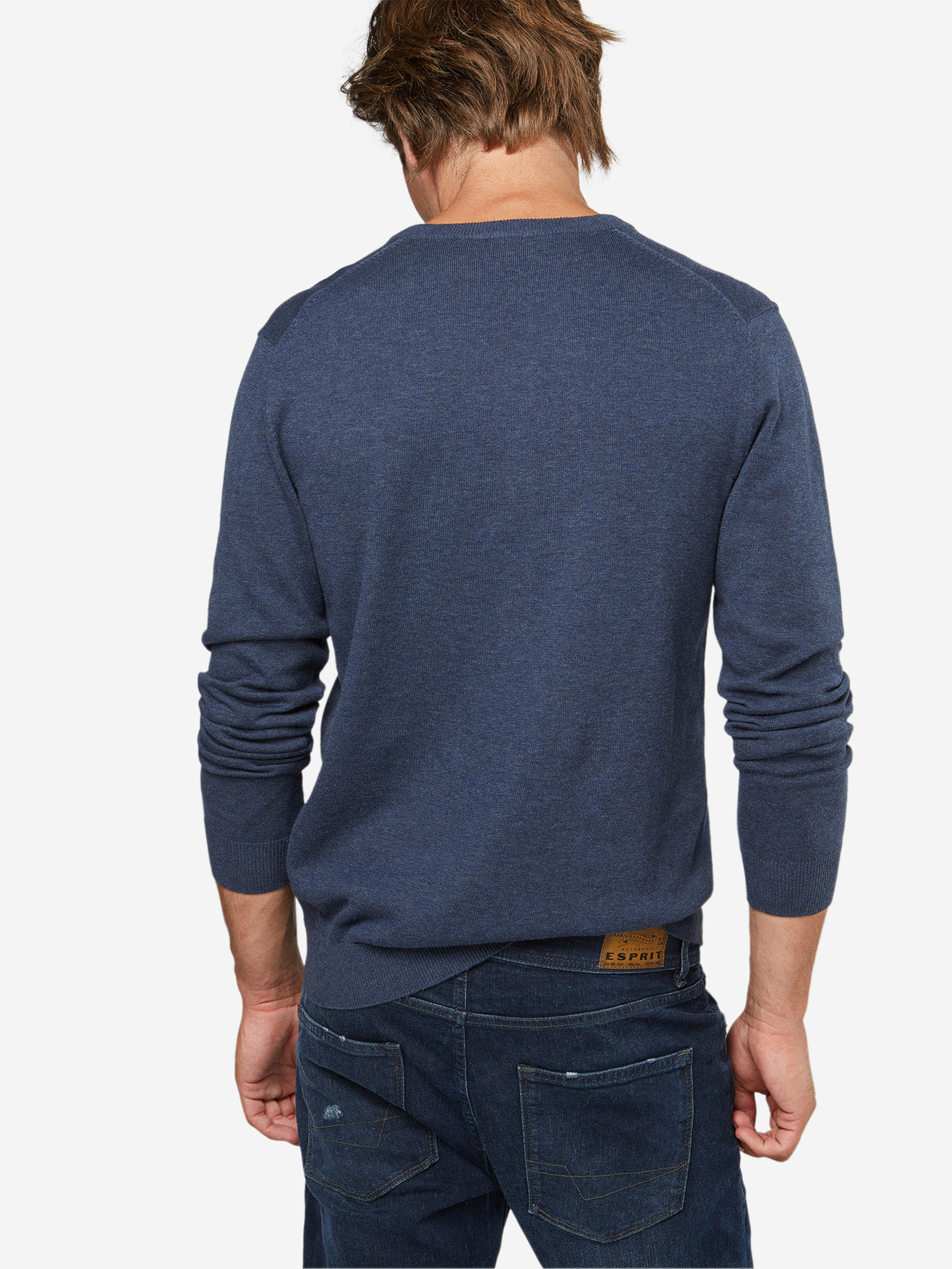 Pull En over 'basic Co Esprit V Marine nk' JculK53FT1
