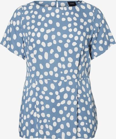 Junarose T-Shirt in himmelblau / weiß, Produktansicht