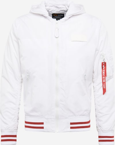 ALPHA INDUSTRIES Jacke 'MA-1 TT Hood Defense' in rot / weiß, Produktansicht