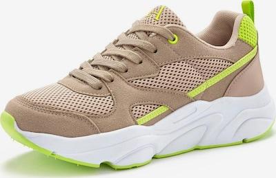 Sneaker low LASCANA pe maro deschis / verde neon, Vizualizare produs