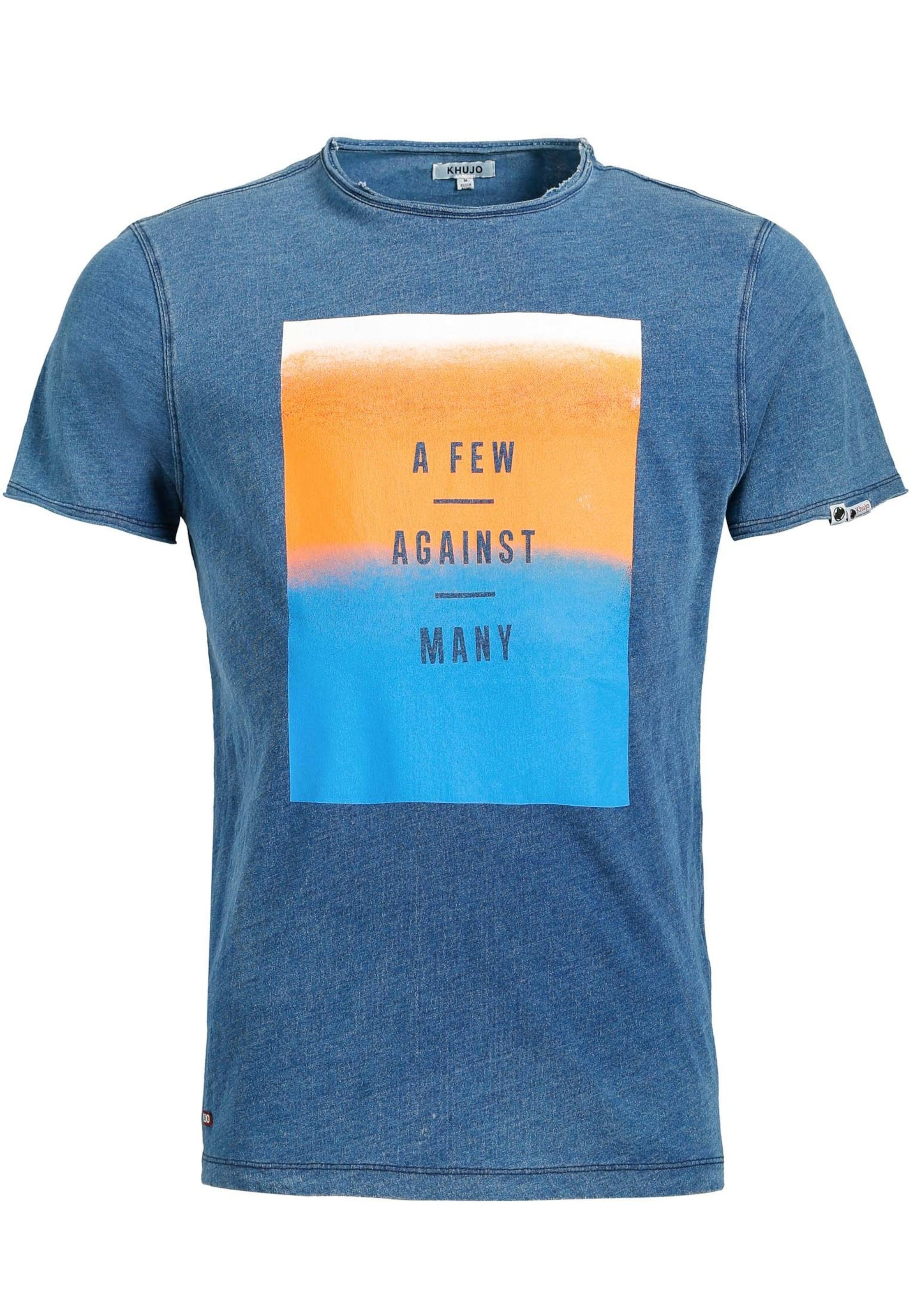 shirt T 'rugby Denim Ombre' Blue Khujo In ChBtQrdxs