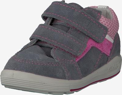 Pepino Schuhe 'Leon' in dunkelgrau / pink / rosa / weiß: Frontalansicht