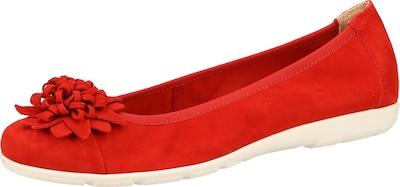 CAPRICE Ballerinas in rot: Frontalansicht
