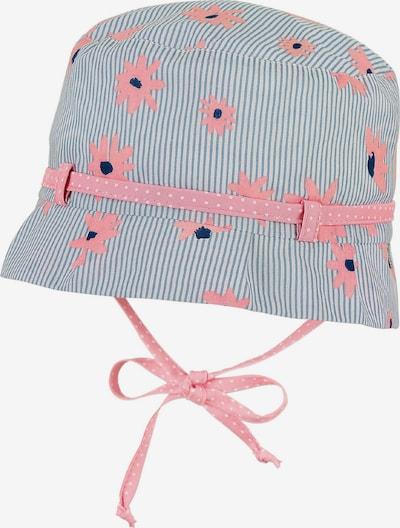 STERNTALER Chapeau en bleu marine / gris clair / rosé / blanc, Vue avec produit