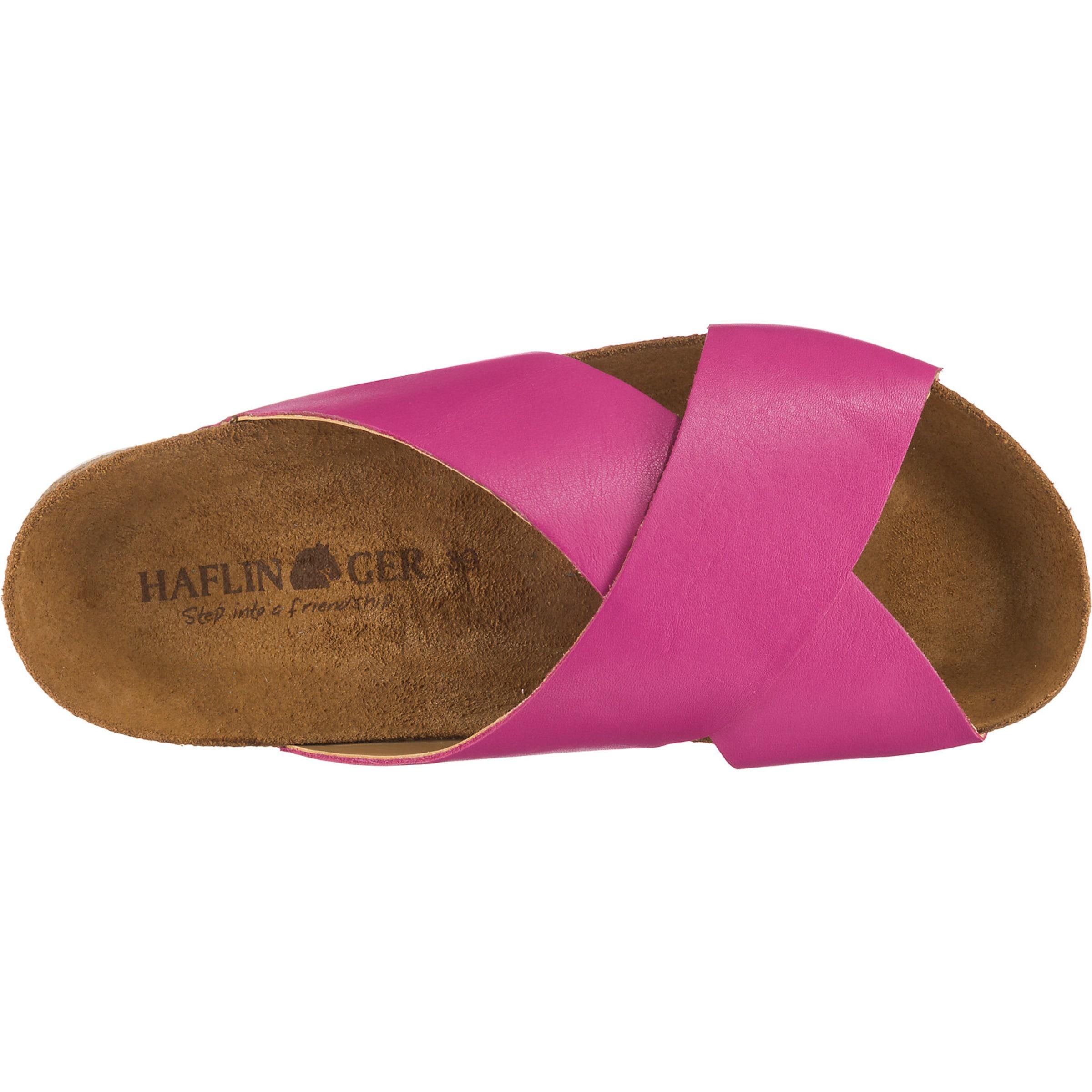 Pink Haflinger Pantoletten 'mio' In Pantoletten Haflinger 2IHYWED9