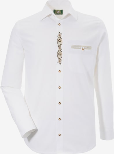 OS-TRACHTEN Trachtenhemd in beige / weiß, Produktansicht