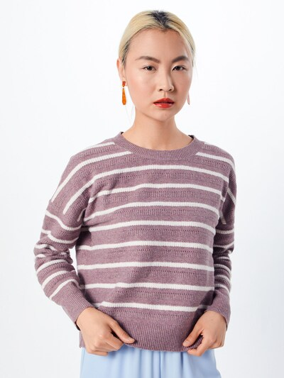 OBJECT Pullover 'MAGS' in rosé / weiß, Modelansicht