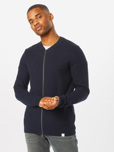 NOWADAYS Jacke 'knitted bomber' in nachtblau, Modelansicht