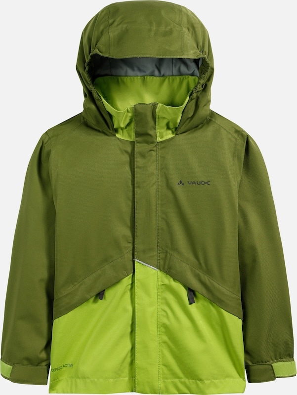 VAUDE Regenjacke 'Escape Light' in grasgrün / neongrün, Produktansicht
