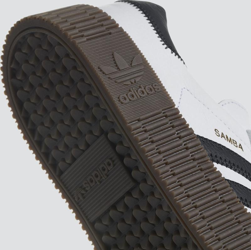 0bea6ae068 ADIDAS ORIGINALS Rövid szárú edzőcipők 'SAMBAROSE' fekete / fehér színben |  ABOUT YOU