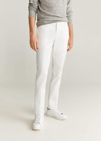 MANGO MAN Hose in weiß, Modelansicht