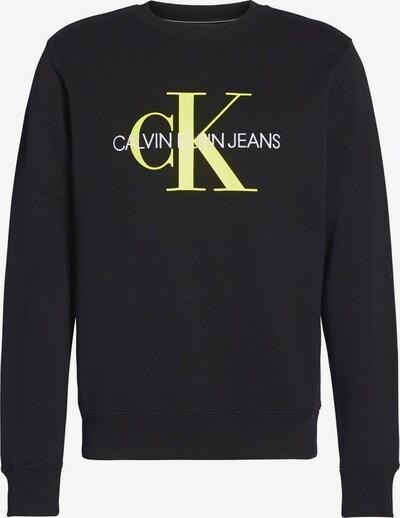 Calvin Klein Jeans Sweatshirt in neongelb / schwarz, Produktansicht