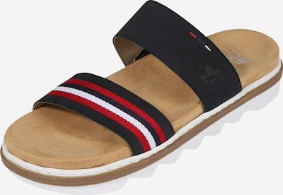RIEKER Pantofle - tmavě modrá / červená / bílá, Produkt