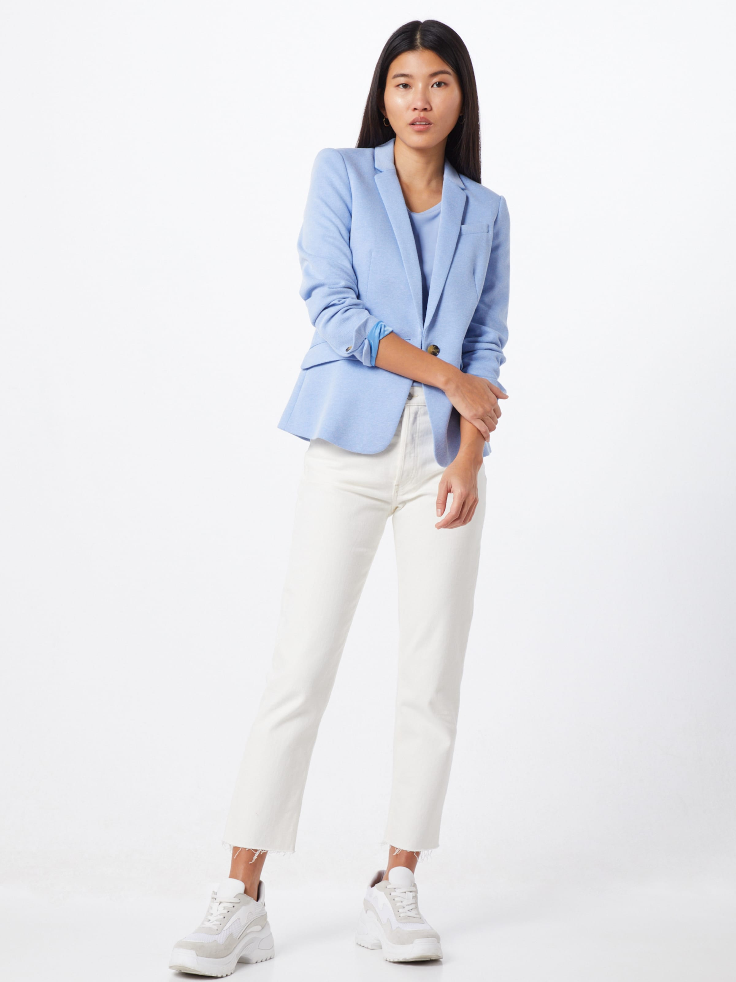 Esprit Collection Blézer 'Pique Update' világoskék színben