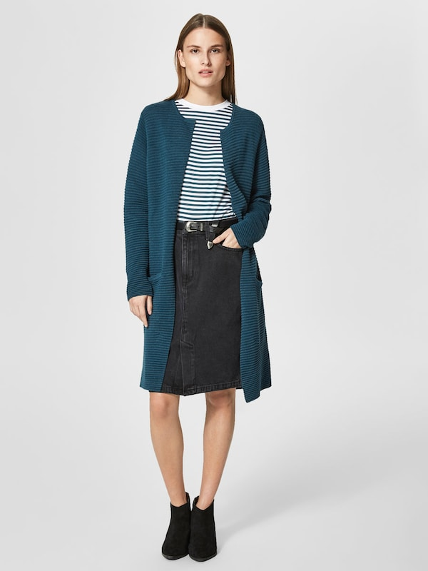 SELECTED FEMME Gerippter Strick-Cardigan