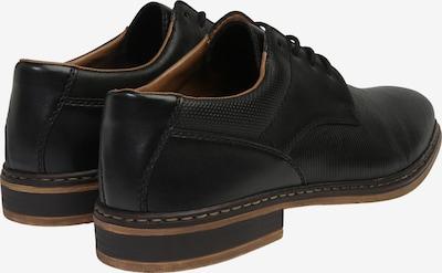 RIEKER Schnürschuh in schwarz: Rückansicht