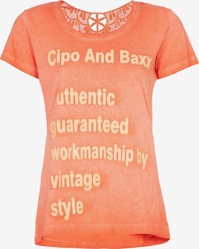 CIPO & BAXX T-Shirt mit modischen Spitzendetails in orange, Produktansicht