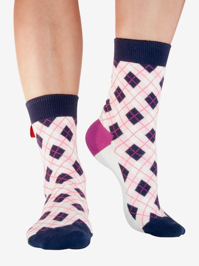 Tag SOCKS Socken 'Multi Patterns' in navy / lila / weiß, Modelansicht