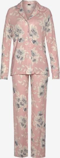 LASCANA Pyjama in grau / puder / naturweiß, Produktansicht
