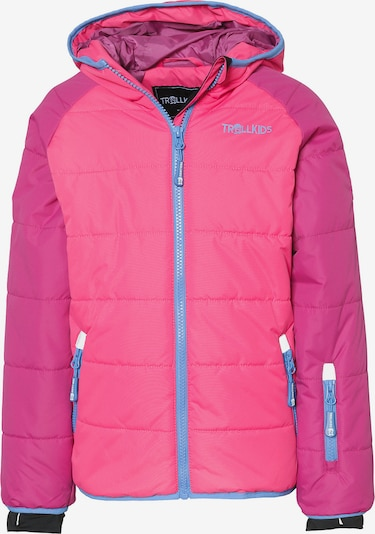TROLLKIDS Jacke 'HAFJELL' in royalblau / pink / neonpink / schwarz / weiß, Produktansicht