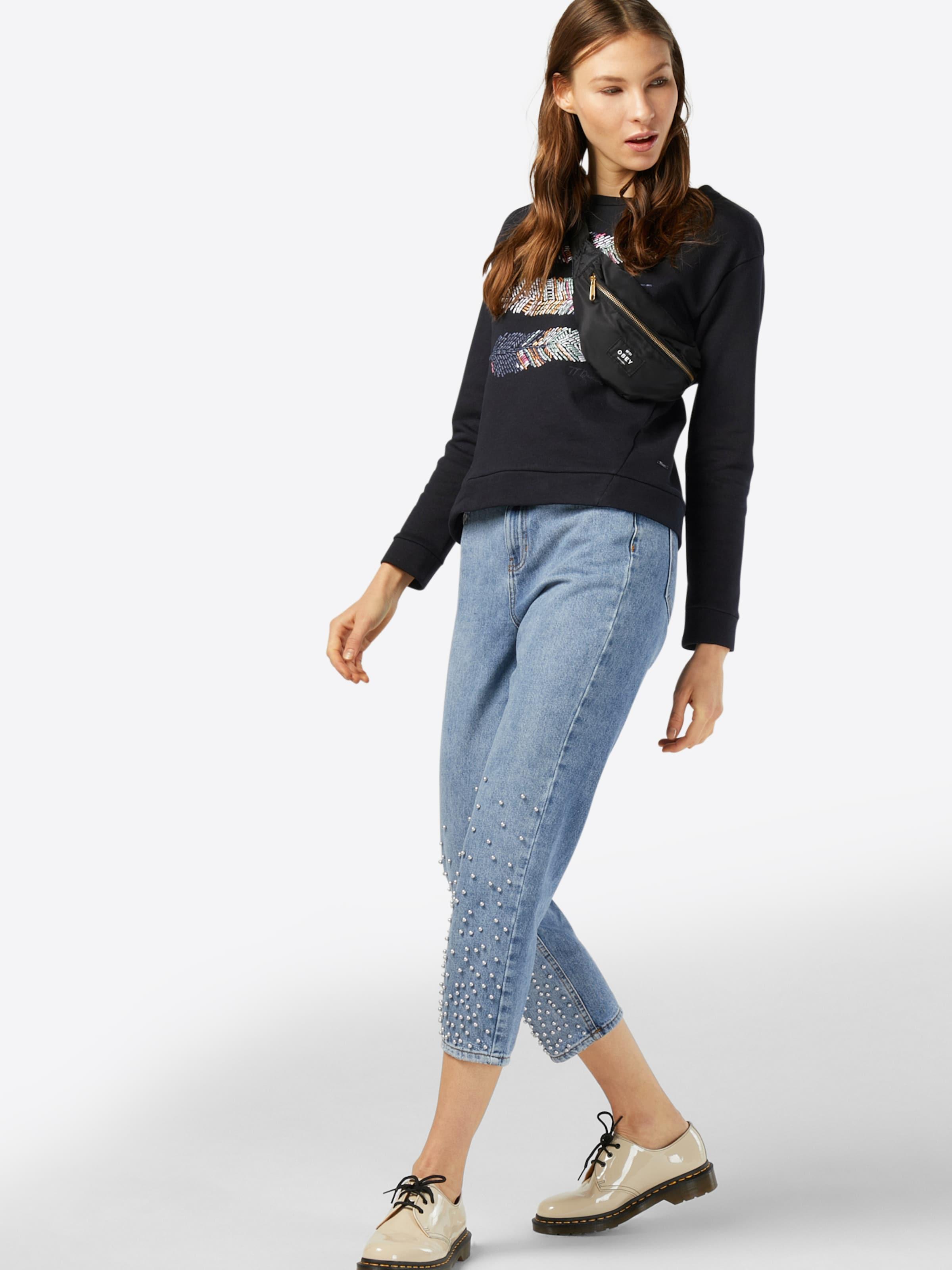TOM TAILOR DENIM Sweatshirt 'Feather' Aus Deutschland Verkauf Online Outlet Rabatt Authentisch jBg5r